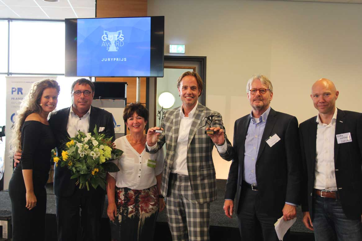 Organisatie en winnaar The Guts Award 2016