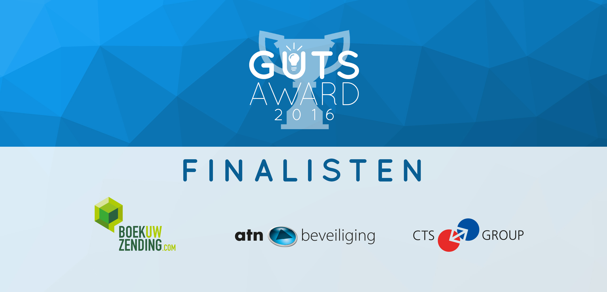 3 finalisten The Guts Award bekend