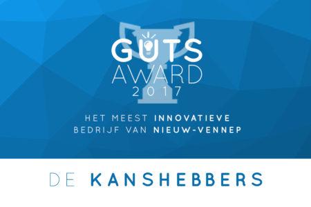 Kanshebbers The Guts Award 2017 bekend, jij kunt bij de uitreiking aanwezig zijn
