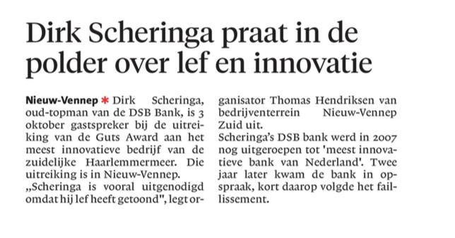 Businesspark Nieuw-Vennep Zuid in het Haarlems Dagblad 10-08-17