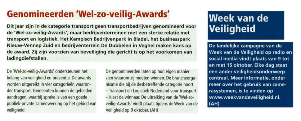 Businesspark Nieuw-Vennep Zuid in Transport en Logistiek 6-10-17
