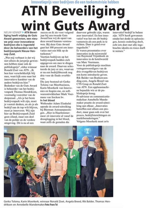 Businesspark Nieuw-Vennep Zuid in het Witte Weekblad 28-09-16