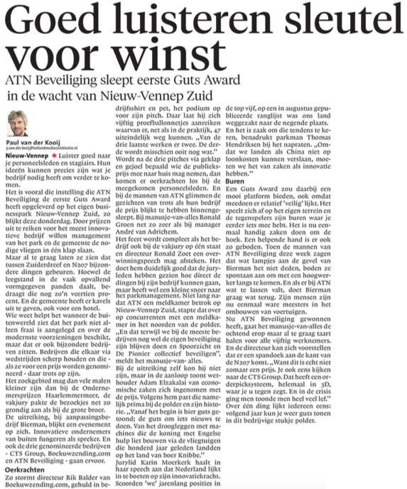 Businesspark Nieuw-Vennep Zuid in Haarlems Dagblad 23-09-16