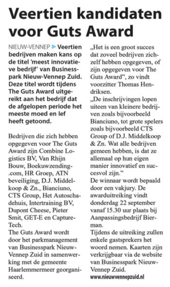 Businesspark Nieuw-Vennep Zuid in het Witte Weekblad 03-08-16
