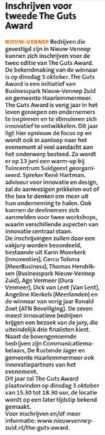 Businesspark Nieuw-Vennep Zuid in HCnieuws 04-05-17