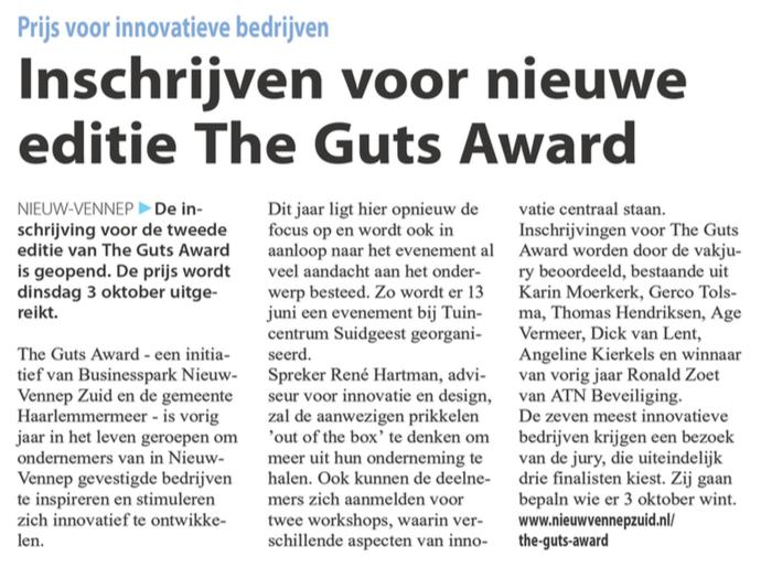 Businesspark Nieuw-Vennep Zuid in Witte Weekblad 17-05-17