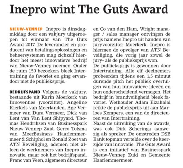 Businesspark Nieuw-Vennep Zuid in Witte Weekblad 05-10-17