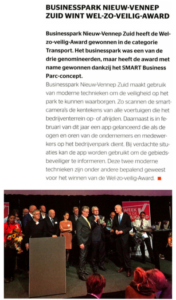 Businesspark Nieuw-Vennep Zuid in Security Management 11-2017