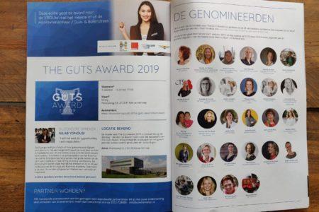 Mooi artikel over The Guts Award in de INTO business Haarlemmermeer!