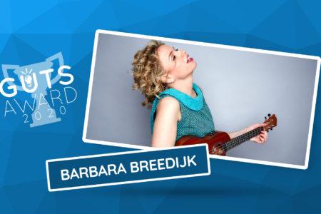Cabaretier en ondernemer Barbara Breedijk presenteert The Guts Award 2020